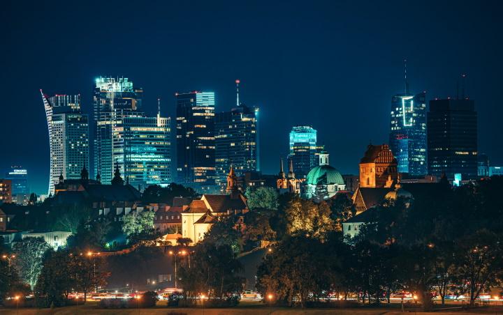 Ночная Варшава, фото предоставлено героиней материала