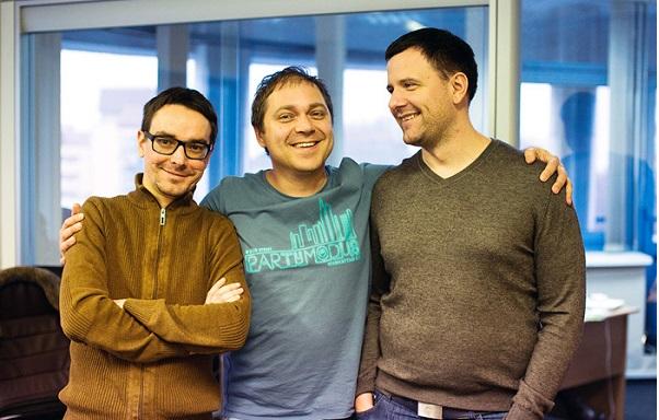 СТО проекта MAPS.ME Виктор Говако, СЕO Юрий Мельничек и ментор проекта Юрий Гурский