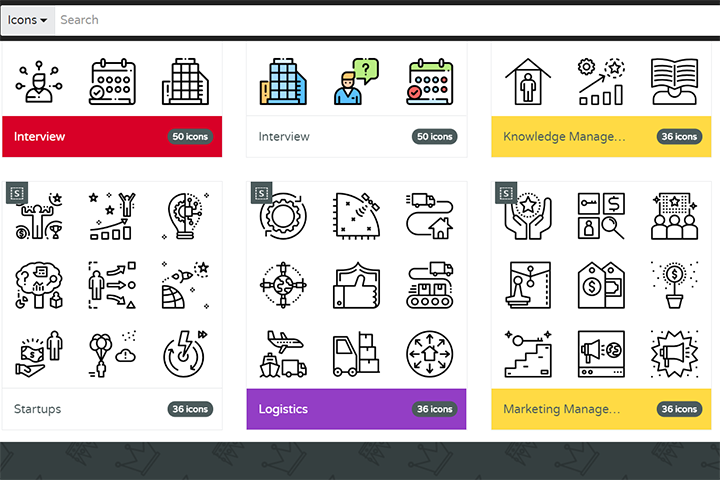 Скриншот с сайта IcoMoon.io