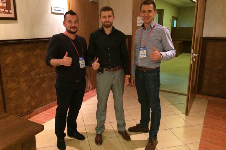 Слева направо: Антон Короткий, Алексей Верютин и Денис Семеняко. Фото из личного архива