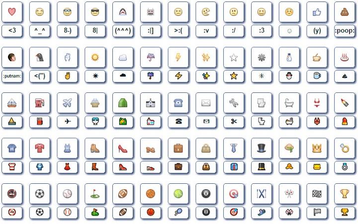 Скриншот со страницы www.symbols-n-emoticons.com
