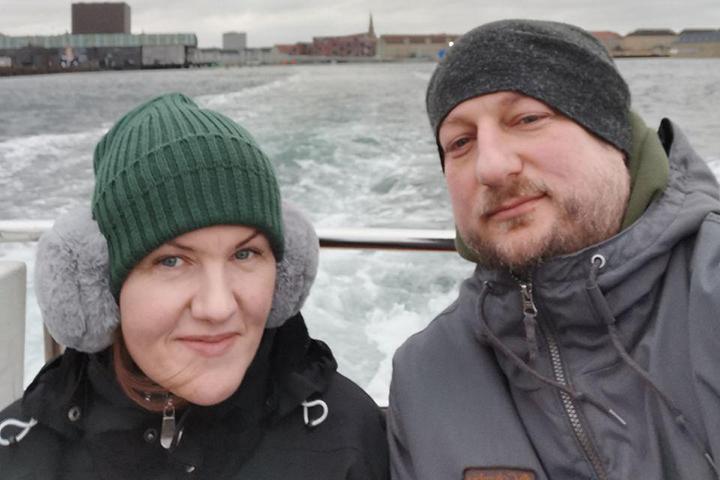 Максима Селявко с женой Наташей. Фото предоставлено автором