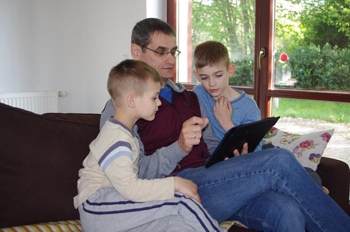 Михаил Бойко с детьми. Фото из личного архива Михаила