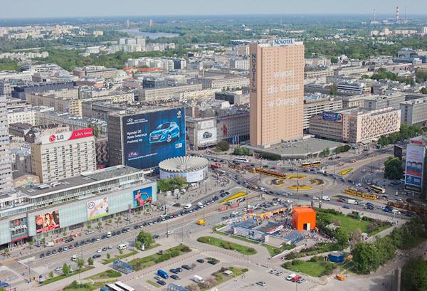 Панорама Варшавы. Фото с сайта gid.cz