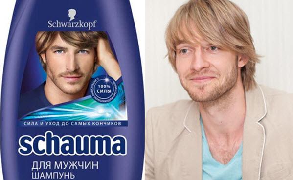 Кирилл Чикеюк-модель из рекламу шампуня Шаума