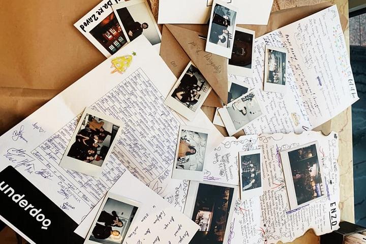 Письма от команды перед Новым Годом. Фото: личный архив