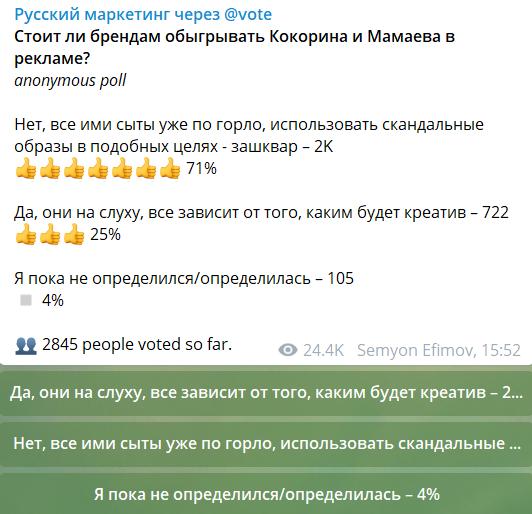 """Скриншот канала """"Русский маркетинг"""" в Telegram"""