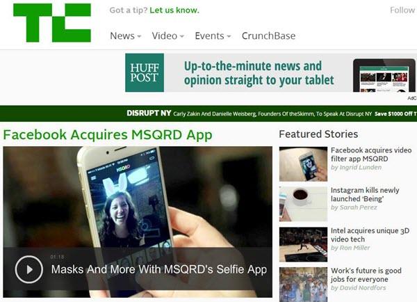 Скриншот с сайта techcrunch.com