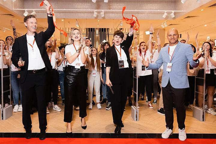 Открытие магазина H&M в Минске.