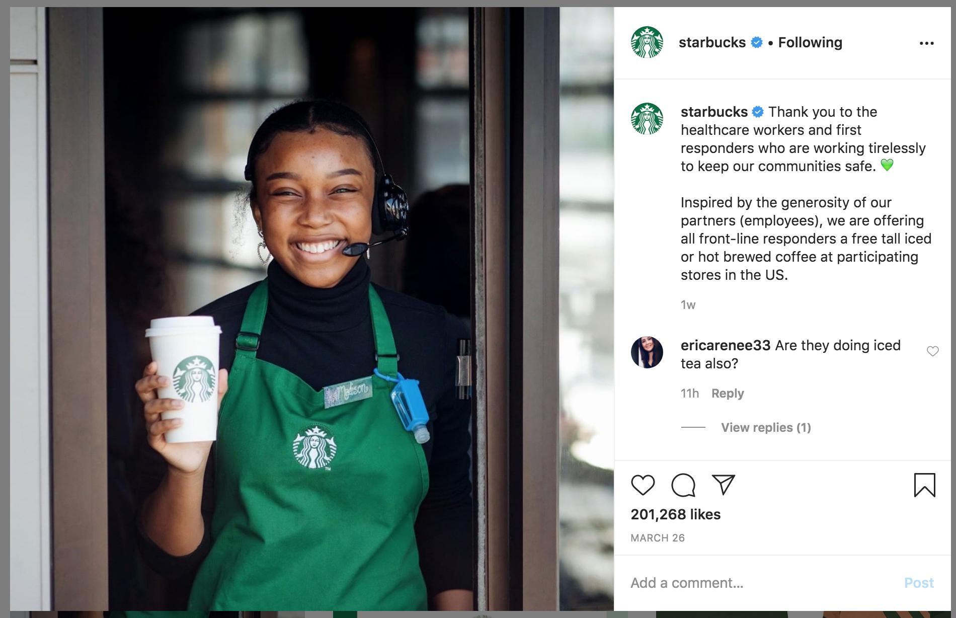 избражение из аккаунта бренда в Instagram