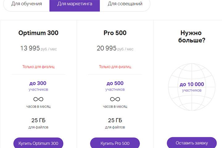 Скриншот сайта webinar.ru
