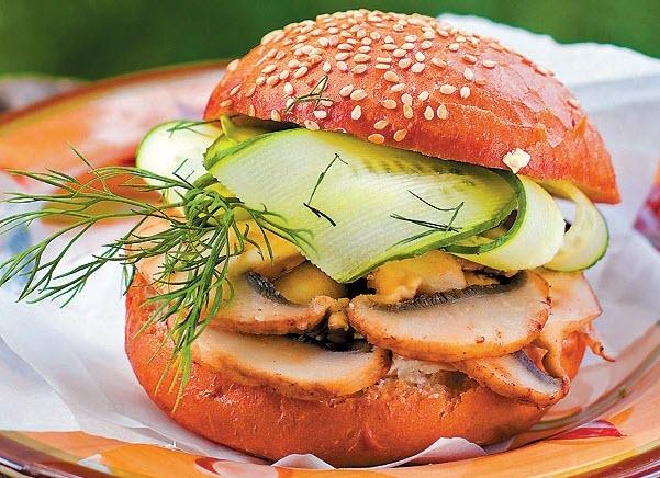 Вегетарианский гамбургер. Фото с сайта tele.ru