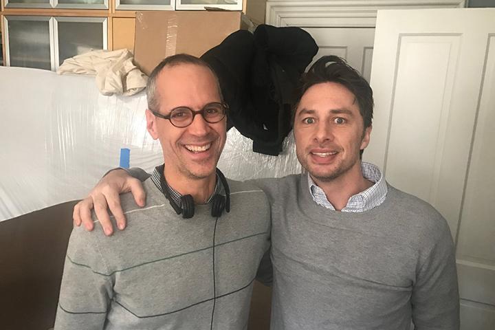 Алекс Блумберг и актер Зак Браф, сыгравший Алекса в ситкоме