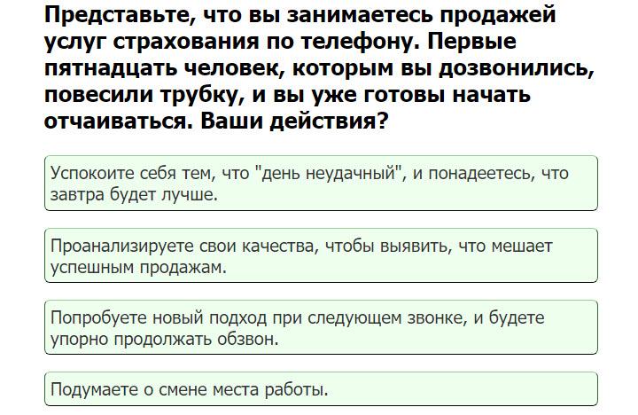 Скриншот с теста Гоулмана, logirus.ru