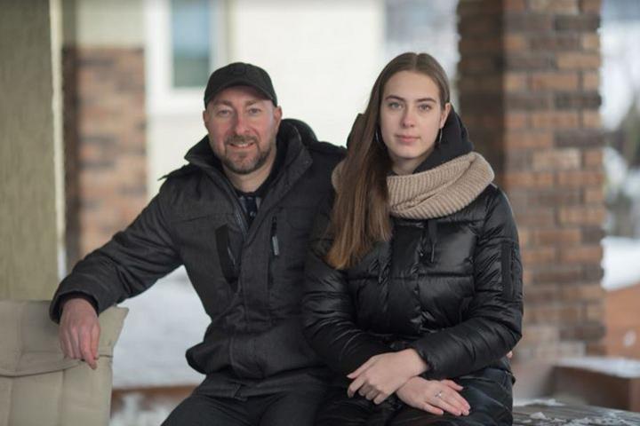 Вадим Маршак со своей дочерью Даной