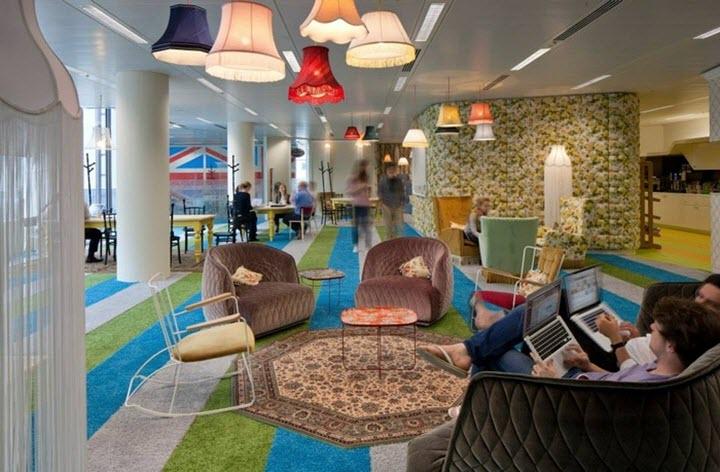 Офис Google, Англия. Фото предоставлено компанией Офис Солюшнз