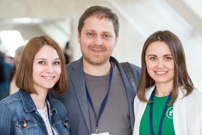 Юрий Мельничек c командой. Фото с сайта dev.by