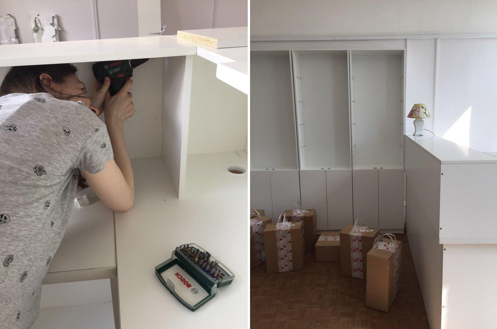 """""""Как мы сами собирали мебель"""". Фото из личного архива Ольги Луковецкой"""