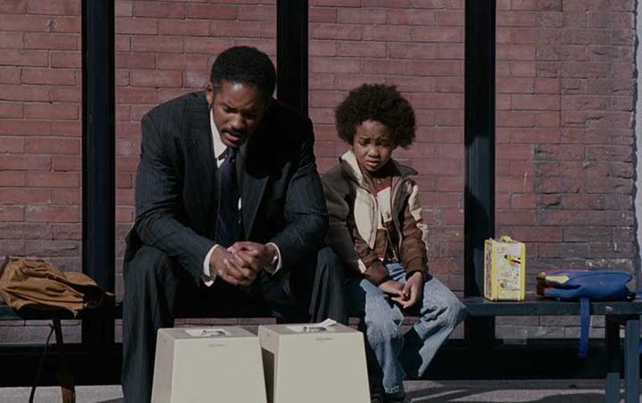 """Кадр из фильма """"В погоне за счастьем"""", США, 2007"""