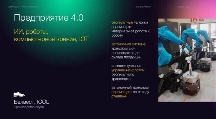 Слайд из выступления Андрея Цыгана на HI-TECH Forum