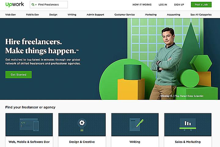 Скриншот с сайта upwork.com