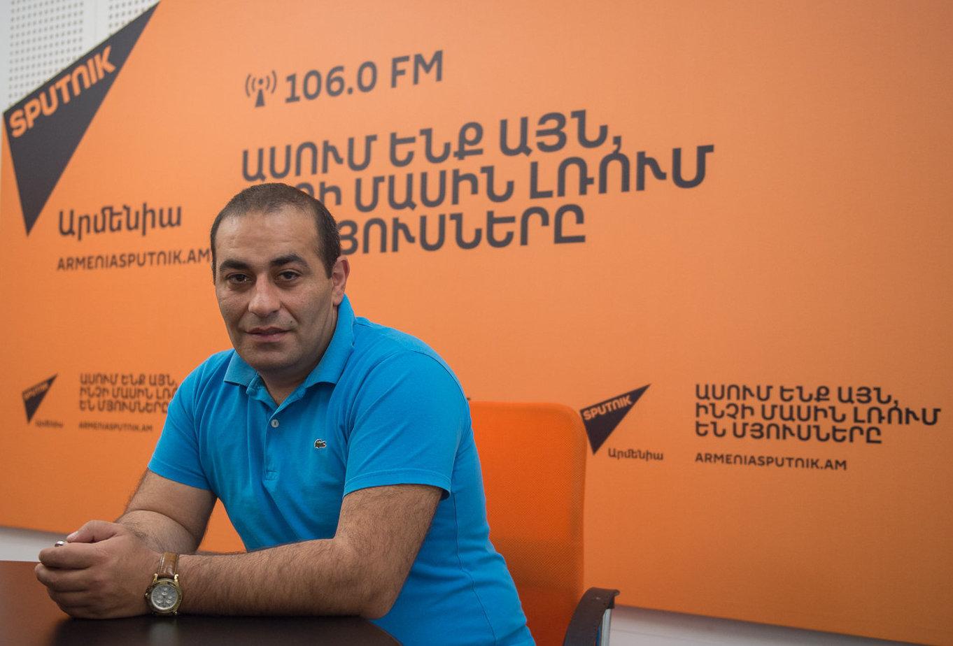 Азат Товмасян. Фото с сайта armeniasputnik.am
