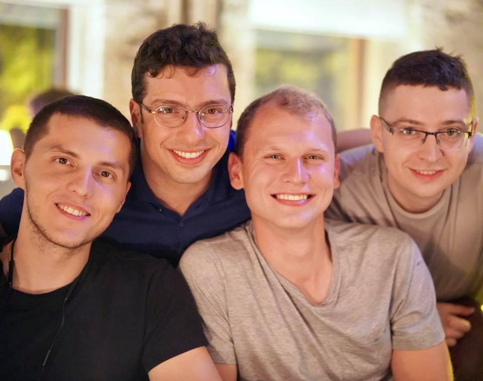 Сергей Гончар, Евгений Невген, Владимир Александровский и Матвей Ежов. Фото со страницы Владимира в Facebook