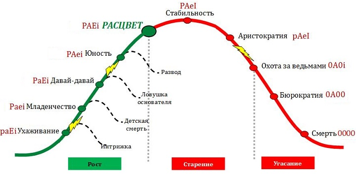 Жизненный цикл компаний. Слайд из презентации Павла Голенченко