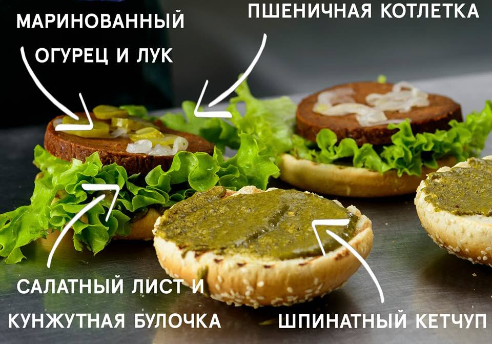 Состав бургера Гринвич. Фото со страницы Monkey Food в Facebook